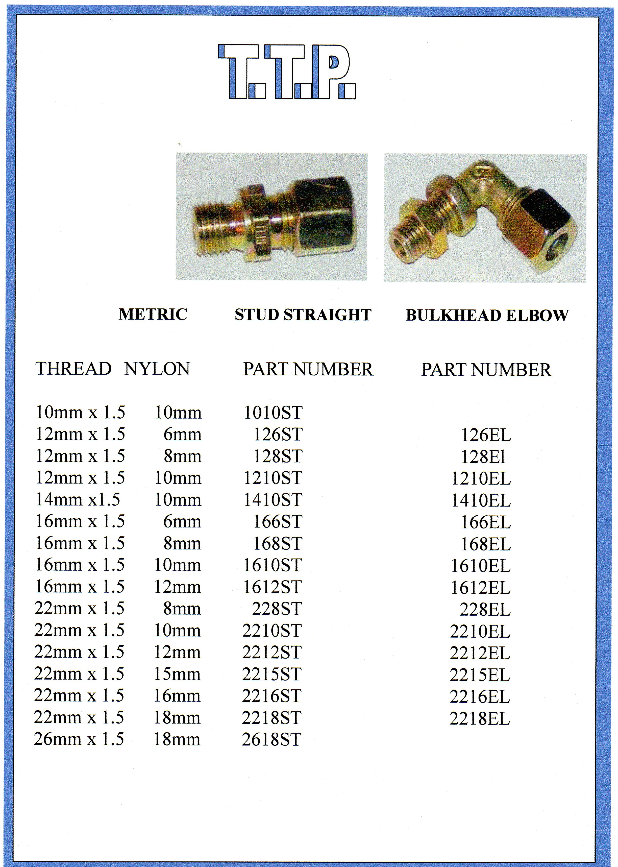 Truck & Trailer Brass Connectors 5